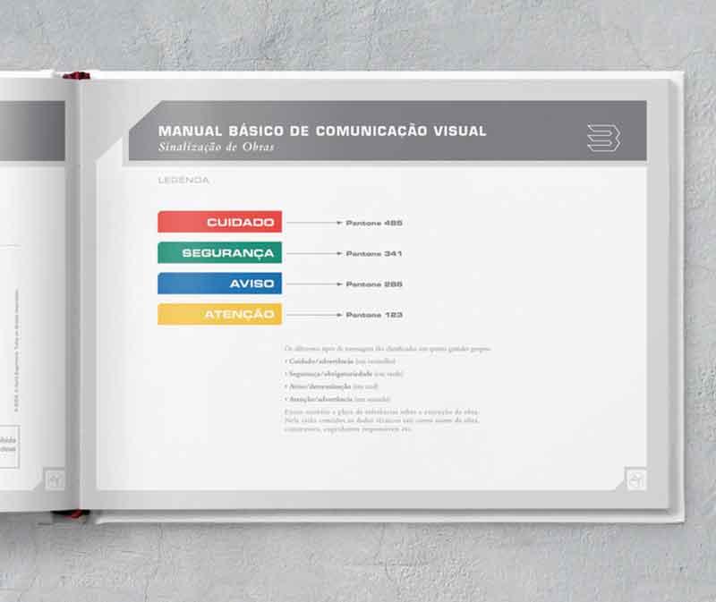 legenda manual comunicação visual de obra construtora A.Yoshii