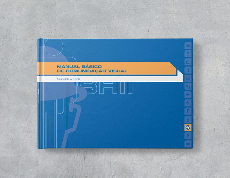 capa Brand guide comunicação visual de obra construtora A.Yoshii