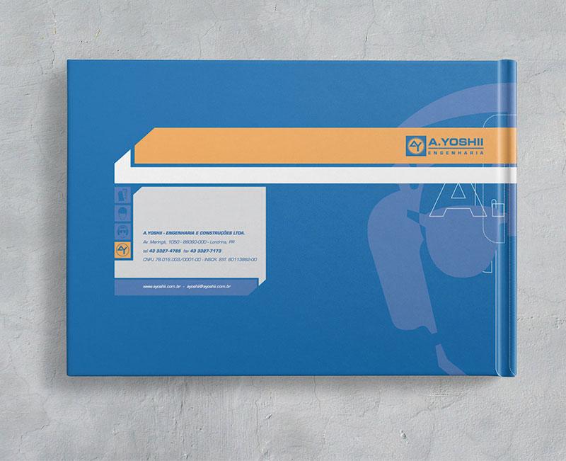 contracapa Brand guide comunicação visual de obra construtora A.Yoshii